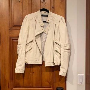 Zara leather jacket 100%lamb leather